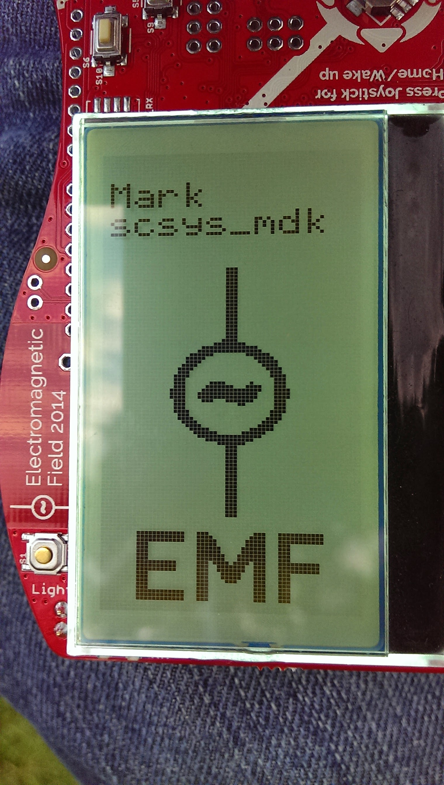 Badge at EMF