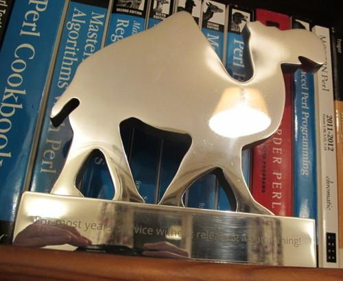 The Silver Camel award just before it was presented to me