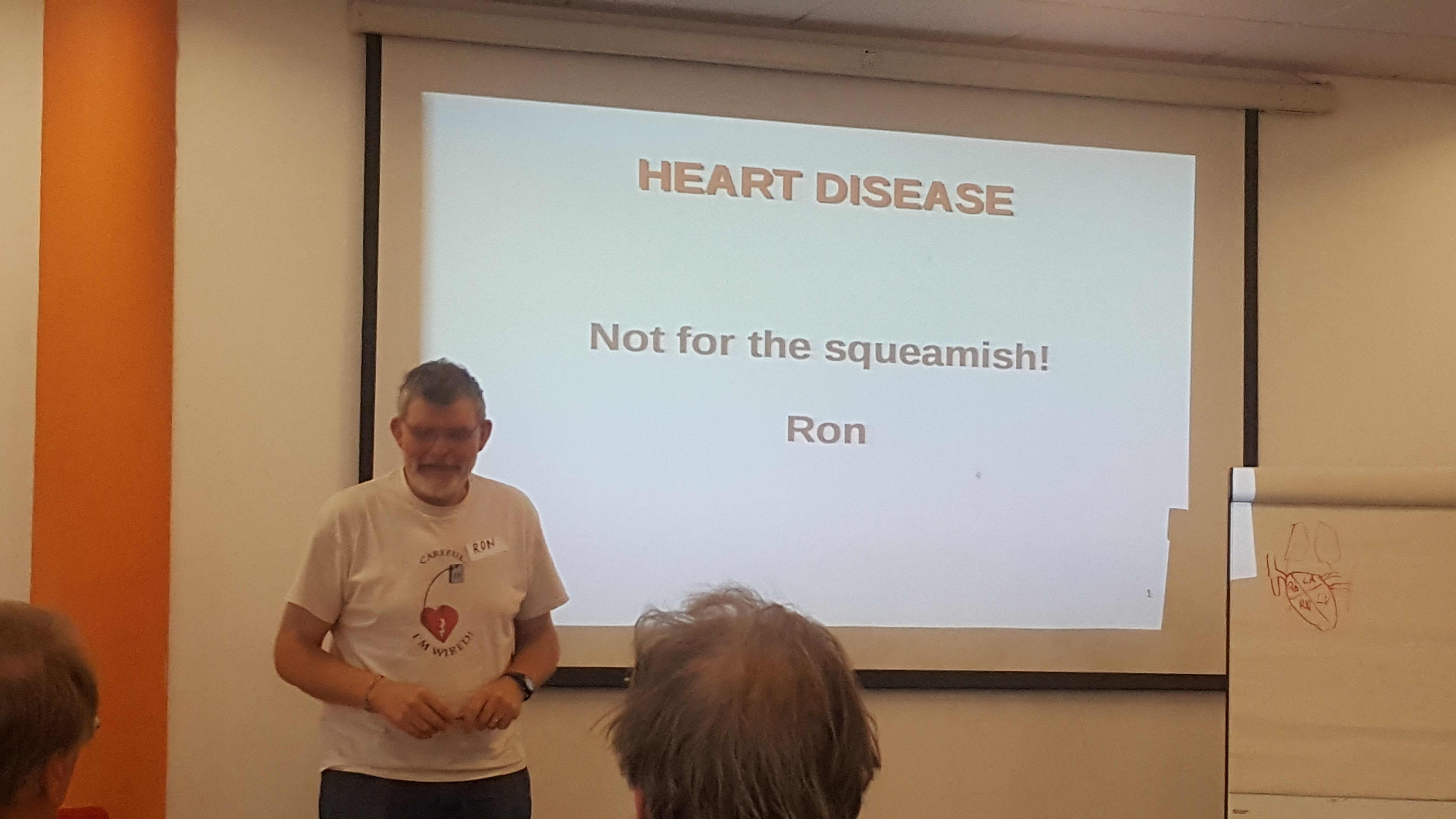 Ron giving a great talk that also serves as a warning
