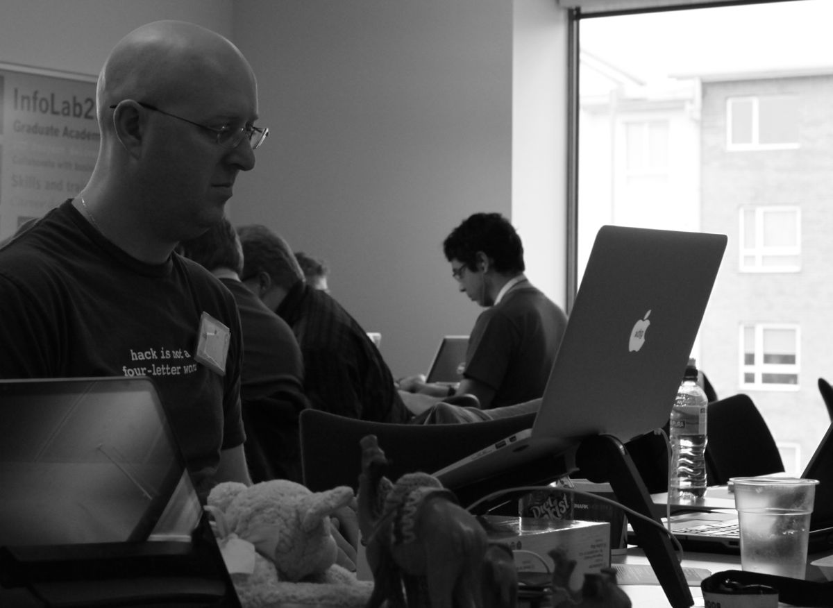 Dave Golden at the 2013 Perl QA Hackathon