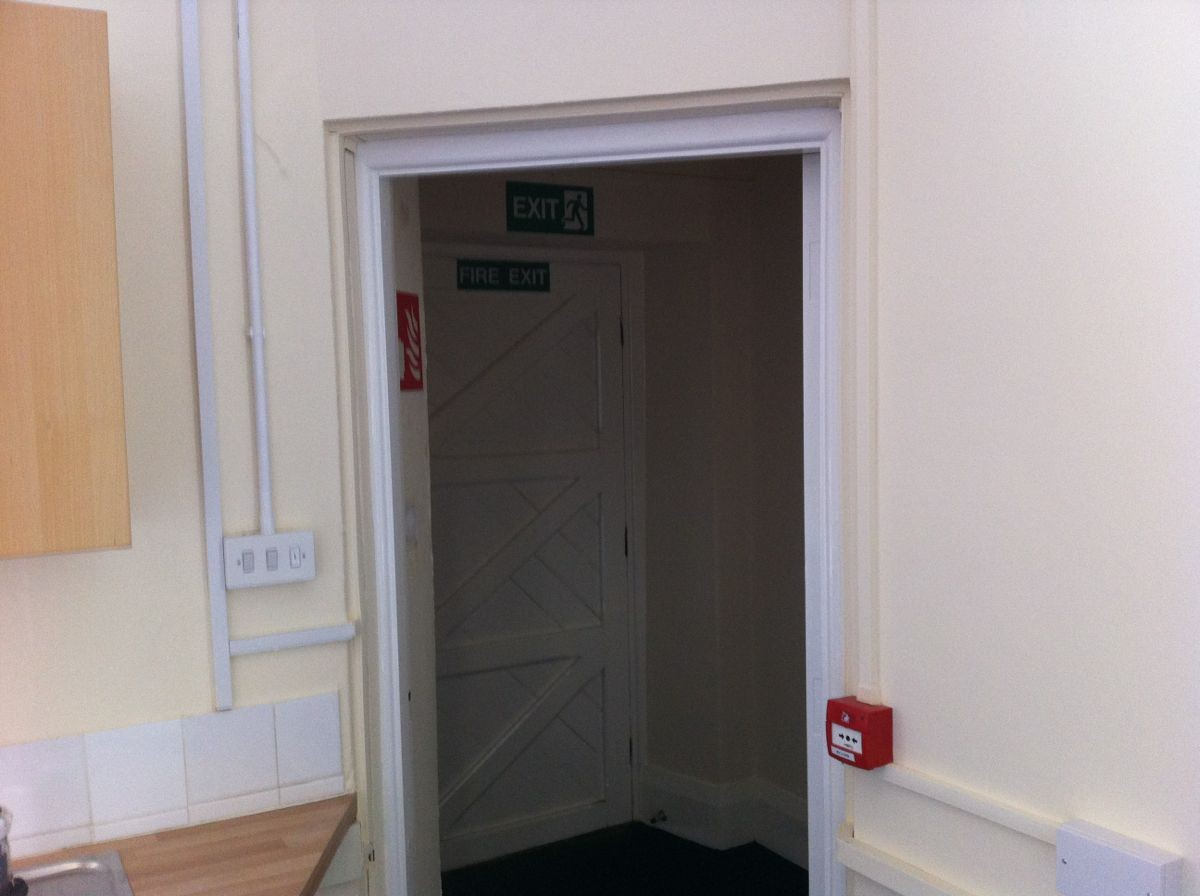 The rear fire door - ground level access