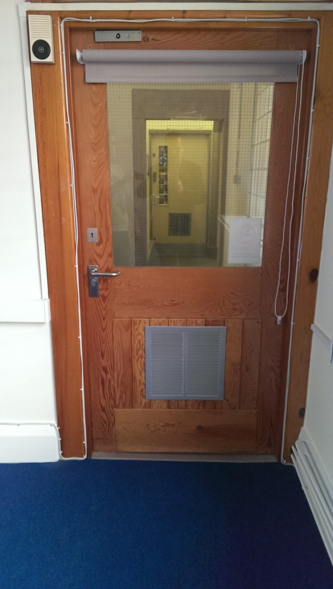 The new internal front door