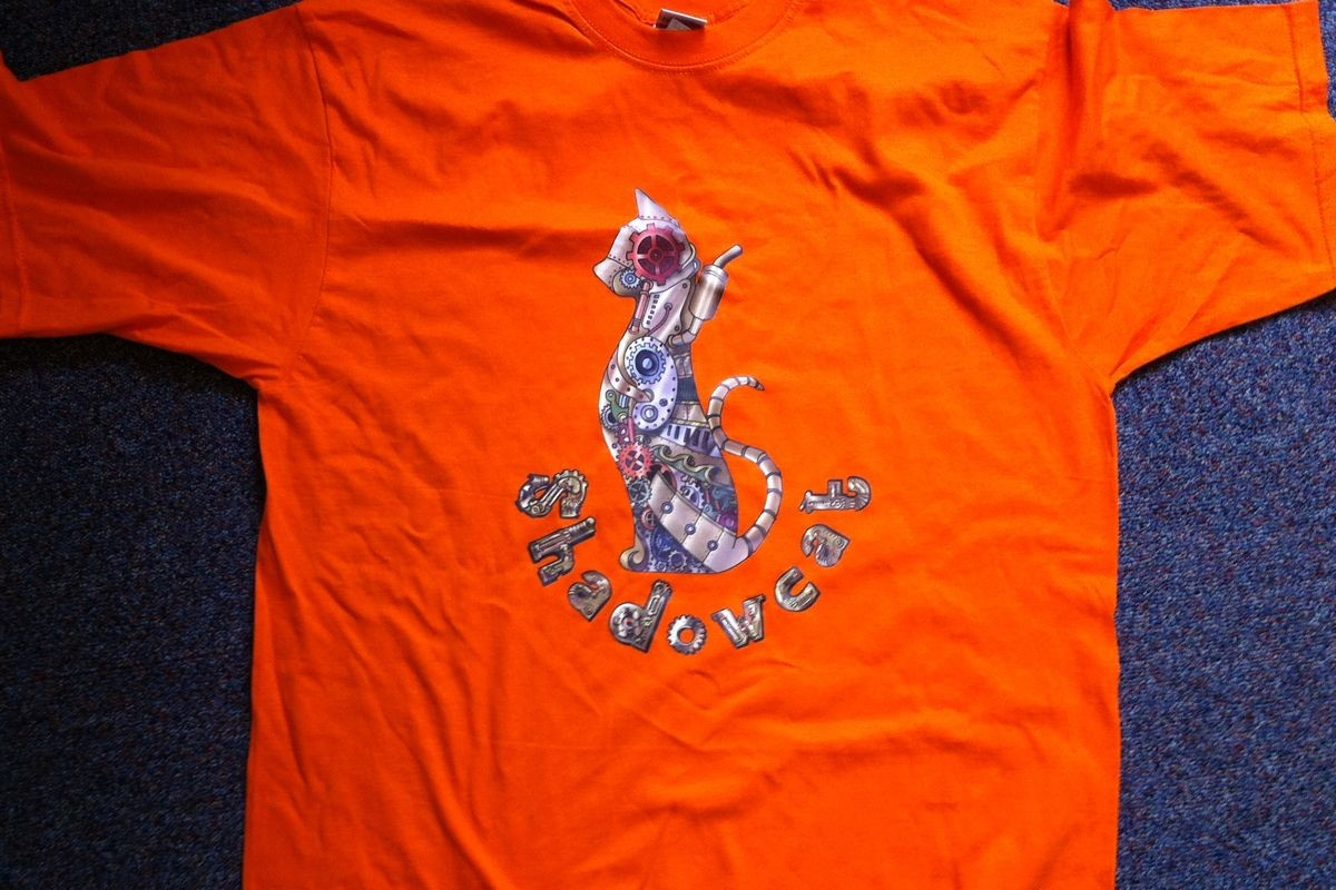 Second design on orange t-shirt
