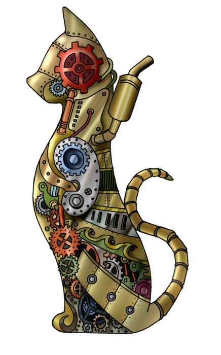 steampunk cat