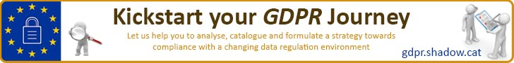 Banner linking to GDPR site for Shadowcat to help you start your GDPR journey