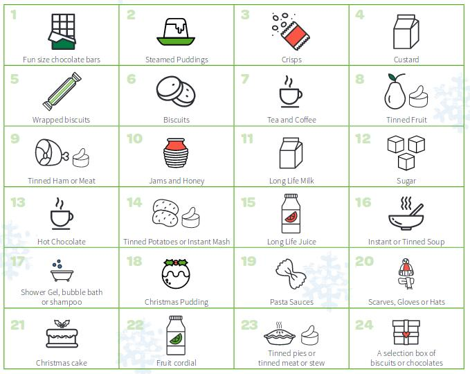 Morecambe Bay Foodbank advent calendar